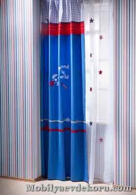 bebek odasi perde modelleri 11 Bebek Odası Perdeleri