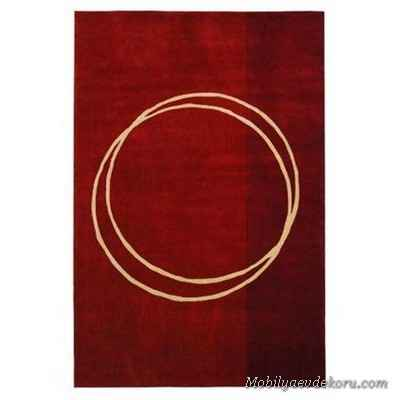 The Rodeo Drive Circle of Life Red Contemporary Rug For Modern Homes