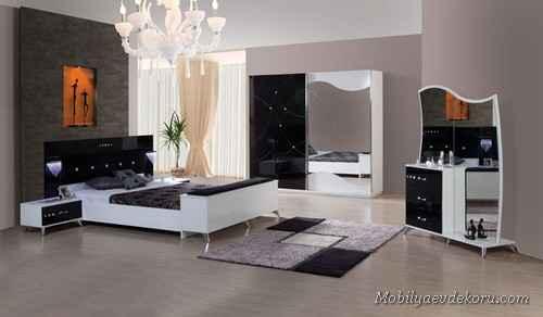 Siyah Yatak Odası Modelleri