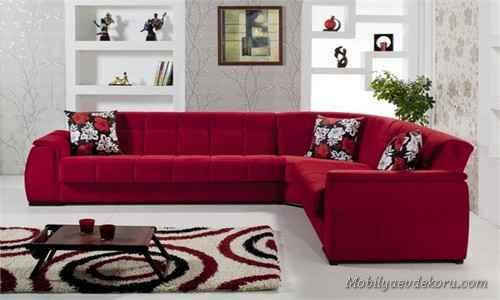Kırmızı Koltuk Takımları 2014