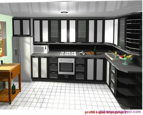 Feng Shui ile L Tipi Mutfak Tasarımları-3